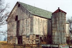 This rustic old barn is located in Marquette County, WI.