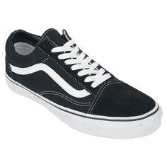 """¡Lo de Old School siempre mola! Las zapatillas Old Skool de Vans lo confirman. En cada cara puedes ver la banda ondulada, que encaja perfectamente con el fondo negro.  Vans - """"Old Skool"""" Zapatillas  - logo de Vans en el talón"""