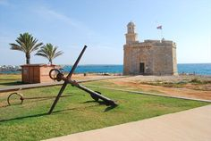 Es Castell de Sant Nicolau - Ciudadela de Menorca, Spain... Castell de Sant Nicolau is a defense tower built by the Spanish in the late eighteenth century, strategically located at the mouth of the port of Ciutadella de Menorca, Islas Baleares, Spain