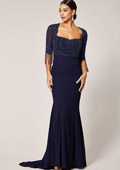 Virgos Lounge Black Gold Sequin Dress Embellished Frill Nene Maxi Party 6 /& 8