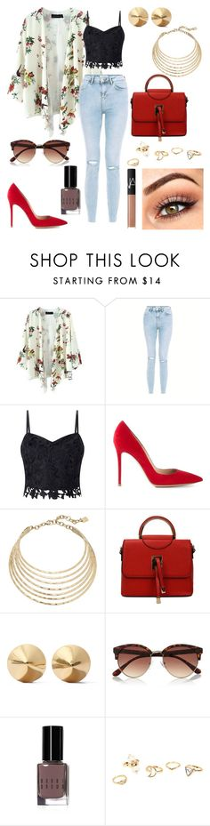 """""""Untitled #174"""" by angelicaaans ❤ liked on Polyvore featuring Lipsy, Gianvito Rossi, Robert Lee Morris, Eddie Borgo, River Island, Bobbi Brown Cosmetics and NARS Cosmetics"""