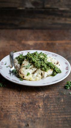 Cauliflower Steak with Green Harissa