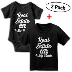 Real Estate is My Hustle Funny Realtor Gift Toddler Baby Girls Short Sleeve Ruffle T-Shirt