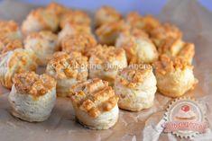 Szalonnás pogácsa Baked Potato, Muffin, Potatoes, Menu, Sweets, Snacks, Cookies, Baking, Breakfast
