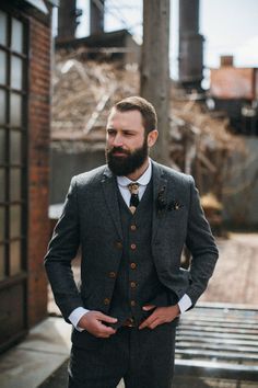 It's not often that you see a man wearing anything with floral pattern. Perhaps your wedding is the time to step outside your comfort zone. A dark floral pattern will be different, but not distracting for the groom. | 11 Winter Ties for a Wonderful Wedding