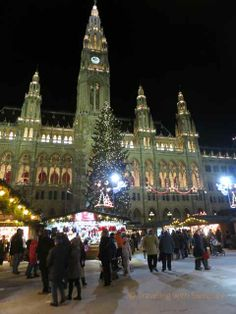 Last year, this time -- One of my fave #Christmas Markets in #Vienna #Austria at the Rathaus