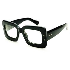 unuasal eye glasses | Unique Square Frame Retro Vintage Style Clear Lens Eye Glasses Frames ...