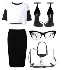 """Black & White"" by ashantiannasmith on Polyvore featuring ComeForBreakfast, Gat Rimon, Yves Saint Laurent, Miu Miu and Balenciaga"
