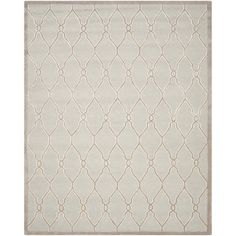 Safavieh Handmade Moroccan Cambridge Light Grey/ Ivory Wool Rug (8' x 10') | Overstock.com Shopping - Great Deals on Safavieh 7x9 - 10x14 Rugs