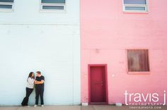 Downtown Denver, Colored walls, modern, urban, engagement pictures, Travis J Photography, Colorado