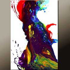Abstract Canvas Art Painting 36x24 Original Modern by wostudios, $99.00