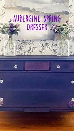 Painted Dressers, Painted Furniture, Furniture Makeover, Furniture Ideas, Mineral Paint, Facade Design, Drawer Handles, Cabinet Design, Upcycled Furniture