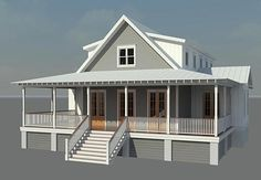 Coastal Home Plans - Nellie Creek Cottage - nice layout