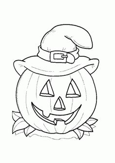 halloween pumpkin coloring page