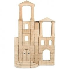 Architectural Wooden Blocks - Best Baby Toy - http://www.gotobaby.com/ - Smooth-sanded hardwood block set is best toy for baby that is naturally finished with a classic look for hours of fun.