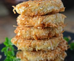 Coconut Crusted Chicken Patties (Paleo and Whole30)  These are AWESOME! Cook in an air fryer or convection oven for less dense, greasy patties.