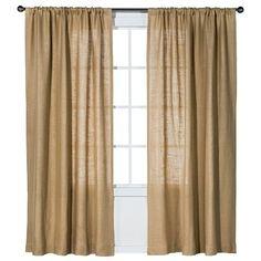 Nate Berkus™ Burlap Curtain Panel - living room??