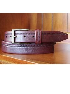 Lejon of California Burgundy Harvard Casual Leather Belt TRC0004 - Spring 2015 Collection Leather Belts   Sam's Tailoring Fine Men's Clothing