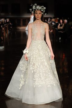 We're dissecting the Bridal Fashion Week runways, for the only wedding dress trends you need to know about for Reem Acra Wedding Dress, Reem Acra Bridal, Ethereal Wedding Dress, Wedding Dress Organza, Wedding Dress Trends, Bridal Wedding Dresses, Bridal Style, Bridal Collection, Dress Collection