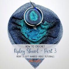 Ripley Shawl Crochet Along - Part 3 Tutorial - moogly Crochet Hood, Crochet Shawl, Moogly Crochet, Crochet Abbreviations, V Stitch, Crochet Tutorials, Video Tutorials, Capes, Sewing