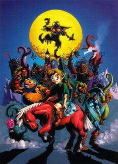 The Legend of Zelda: Majora's Mask | Link, Epona, and Skull Kid