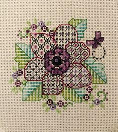 Cross stitch community - patterns, discussions, giveaways, and competition! Blackwork Cross Stitch, Biscornu Cross Stitch, Blackwork Embroidery, Cross Stitch Tree, Cross Stitch Flowers, Cross Stitching, Cross Stitch Embroidery, Blackwork Patterns, Needlepoint Patterns