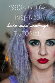 GLOW inspired Halloween costume - click through for a full 1980s hair and makeup tutorial! Mint blue eyeshadow and crimped hair….is there anything better?! | 80s hair tutorial | 80s makeup tutorial | crimped hair tutorial | how to get 80s hair | how to do 80s makeup | glow halloween costume | glow wrestler makeup #EyeshadowStepByStep 80s Makeup Tutorial, Makeup Tutorial For Beginners, 1980 Makeup, 1980s Hair, Glow Hair, Eyeshadow Step By Step, Crimped Hair, Step By Step Hairstyles, Blue Eyeshadow