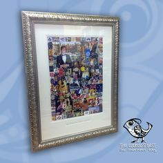 Here is a piece by a customer of ours who makes these amazing collages commemorating her family members birthdays, anniversaries etc. Framed in these rich, ornate silver frames, with double mounting on the main image and a single mount opening for a small dedication at the bottom they make a wonderful gift for the recipient and an amazing record of memories to be treasured.