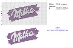 Logo del cioccolato Milka schema punto croce