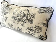 With matching drapery pillow...