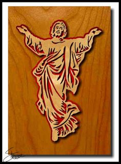 Jesus Scroll Saw Pattern.