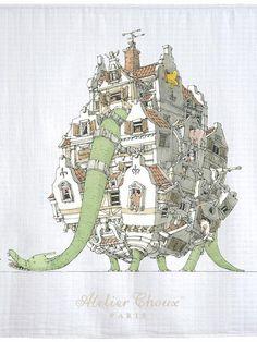 Atelier Choux, les langes arty pour bébés | MilK