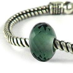 On Sale  4 Pcs  Big hole Beads  Green amethyst by shininggems