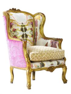 The Monarch Chair by Wild Chairy Mix of 3 fabrics: genius