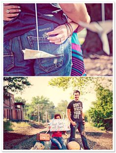 For Anna - Travel-Themed Engagement Session .  I could totally see you and Jacob doing something like this!