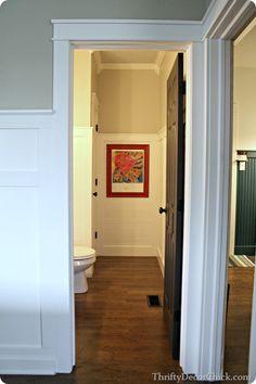 Adding thick Craftsman door trim to my doorways! #DIY