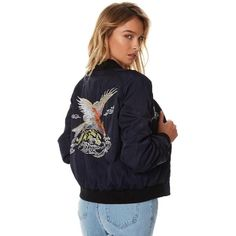 Wrangler Phoenix Womens Bomber Jacket Blue