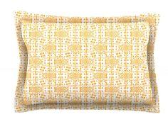 Diamonds by Apple Kaur Designs Cotton Pillow Sham, Squares