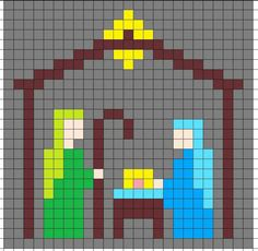 Crochet Mary, Joseph, and baby Jesus graph