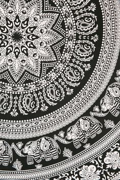Magical Thinking Floral Elephant Tapestry - Save 60% Compared to Urban Outfitters