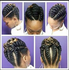 Beautiful natural hair up do