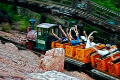 Big Thunder Mountain Railroad in Frontierland at the Magic Kingdom via Flickr | Pinned by Mousefan in a Minivan | #disney #wdw #disneyworld #magickingdom #parks #bigthundermountain #frontierland #attraction #ride #photography #florida #orlando #vacation #travel