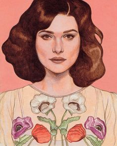 """The dress. Rachel Weisz's performances often create a hunger in her audiences; we want to know more about what's behind the mysteries and intimacies that her characters let us into and then turn away from. Weisz returns to the stage as Susan Traherne in David Hare's 1978 play, """"Plenty"""" (at the Public, through Nov. 20). Click the link in our bio to read more from Hilton Als. Illustration by Pierre Mornet."""