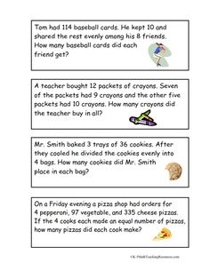 Worksheets Mathematical Story About  Addition,subtraction,multiplication And Division multiple step word problems task cards free a mix of addition this website has activities for each grade math standard i really like the multi activity for