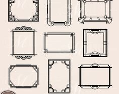 Gouden ART-DECO FRAME illustraties: Art Deco door MNINEDESIGNS