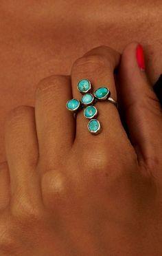 Idée et inspiration Bijoux : Image Description turquoise ring