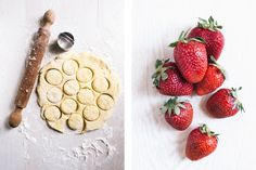 Orange Zest Scones + Strawberry Rhubarb Compote - The Yellow Table Strawberry Rhubarb Compote, Happy Good Friday, Yellow Table, Easter Weekend, Orange Zest, Spring Recipes, Vegan Gluten Free, Scones, Strawberries