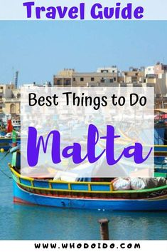 12 of the Best Things to See and Do in Malta ⋆ Who do I do - Read our top things to see and do on this beautiful island of Malta. There's a wide range of activities to suit everyone, from relaxing on the beach to strolling through the streets in Valletta. | #visitmalta #traveltips #travelguide #coupletravel #thingstodo #europetravel #weekendbreak Malta Travel Guide, Best Travel Guides, Europe Travel Tips, Romantic Destinations, Romantic Getaways, Romantic Travel, Romantic Weekends Away, Weekend City Breaks, Travel Inspiration
