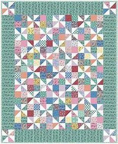 pinwheel fancy quilt pattern | Quilts & Sewing | Pinterest