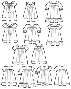 Line Drawing - Madeline dress - Simplicity 2674 Toddler Dresses Project Runway Collection - not currently available